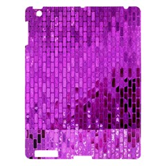 Purple Background Scrapbooking Paper Apple Ipad 3/4 Hardshell Case by Amaryn4rt