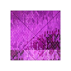 Purple Background Scrapbooking Paper Acrylic Tangram Puzzle (4  x 4 ) by Amaryn4rt