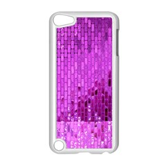 Purple Background Scrapbooking Paper Apple Ipod Touch 5 Case (white) by Amaryn4rt