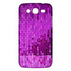 Purple Background Scrapbooking Paper Samsung Galaxy Mega 5 8 I9152 Hardshell Case  by Amaryn4rt