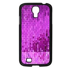 Purple Background Scrapbooking Paper Samsung Galaxy S4 I9500/ I9505 Case (black) by Amaryn4rt