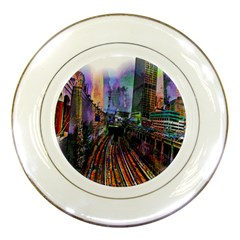Downtown Chicago Porcelain Plates by Amaryn4rt