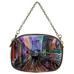 Downtown Chicago Chain Purses (one Side)  by Amaryn4rt