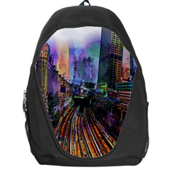Downtown Chicago Backpack Bag by Amaryn4rt