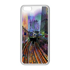 Downtown Chicago Apple Iphone 5c Seamless Case (white) by Amaryn4rt
