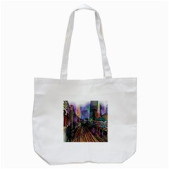 Downtown Chicago Tote Bag (white) by Amaryn4rt