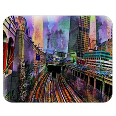 Downtown Chicago Double Sided Flano Blanket (medium)  by Amaryn4rt