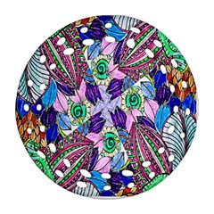 Wallpaper Created From Coloring Book Ornament (round Filigree) by Amaryn4rt