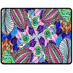 Wallpaper Created From Coloring Book Double Sided Fleece Blanket (medium)  by Amaryn4rt