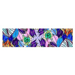 Wallpaper Created From Coloring Book Satin Scarf (oblong) by Amaryn4rt