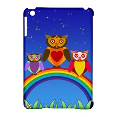 Owls Rainbow Animals Birds Nature Apple Ipad Mini Hardshell Case (compatible With Smart Cover) by Amaryn4rt