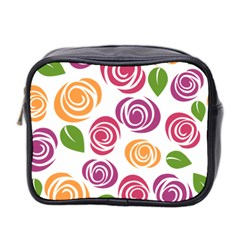 Colorful Seamless Floral Flowers Pattern Wallpaper Background Mini Toiletries Bag 2 Side by Amaryn4rt