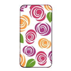Colorful Seamless Floral Flowers Pattern Wallpaper Background Apple Iphone 4/4s Seamless Case (black) by Amaryn4rt