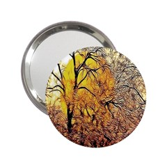 Summer Sun Set Fractal Forest Background 2 25  Handbag Mirrors by Amaryn4rt