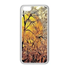 Summer Sun Set Fractal Forest Background Apple Iphone 5c Seamless Case (white) by Amaryn4rt