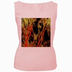 Artistic Effect Fractal Forest Background Women s Pink Tank Top by Amaryn4rt