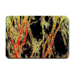 Artistic Effect Fractal Forest Background Small Doormat  by Amaryn4rt