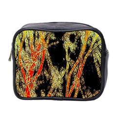 Artistic Effect Fractal Forest Background Mini Toiletries Bag 2 Side by Amaryn4rt
