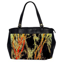 Artistic Effect Fractal Forest Background Office Handbags (2 Sides)  by Amaryn4rt