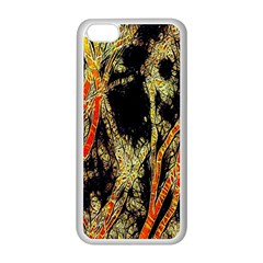Artistic Effect Fractal Forest Background Apple Iphone 5c Seamless Case (white) by Amaryn4rt