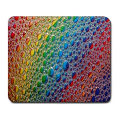 Bubbles Rainbow Colourful Colors Large Mousepads by Amaryn4rt