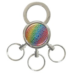 Bubbles Rainbow Colourful Colors 3 Ring Key Chains by Amaryn4rt