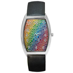Bubbles Rainbow Colourful Colors Barrel Style Metal Watch by Amaryn4rt