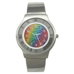 Bubbles Rainbow Colourful Colors Stainless Steel Watch by Amaryn4rt