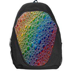 Bubbles Rainbow Colourful Colors Backpack Bag by Amaryn4rt