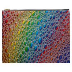 Bubbles Rainbow Colourful Colors Cosmetic Bag (xxxl)  by Amaryn4rt