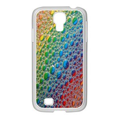 Bubbles Rainbow Colourful Colors Samsung Galaxy S4 I9500/ I9505 Case (white) by Amaryn4rt