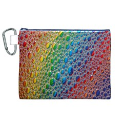Bubbles Rainbow Colourful Colors Canvas Cosmetic Bag (xl) by Amaryn4rt