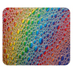 Bubbles Rainbow Colourful Colors Double Sided Flano Blanket (small)  by Amaryn4rt