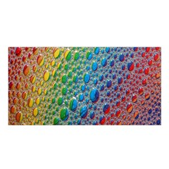 Bubbles Rainbow Colourful Colors Satin Shawl by Amaryn4rt