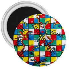 Snakes And Ladders 3  Magnets by Amaryn4rt