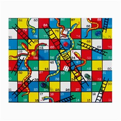 Snakes And Ladders Small Glasses Cloth by Amaryn4rt