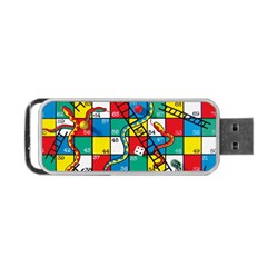 Snakes And Ladders Portable Usb Flash (one Side) by Amaryn4rt