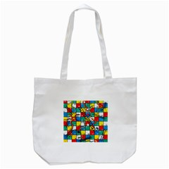 Snakes And Ladders Tote Bag (white) by Amaryn4rt