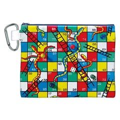Snakes And Ladders Canvas Cosmetic Bag (xxl) by Amaryn4rt