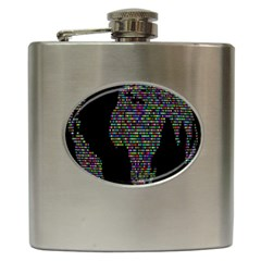 World Earth Planet Globe Map Hip Flask (6 Oz) by Amaryn4rt