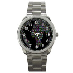 World Earth Planet Globe Map Sport Metal Watch by Amaryn4rt