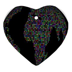 World Earth Planet Globe Map Heart Ornament (two Sides) by Amaryn4rt