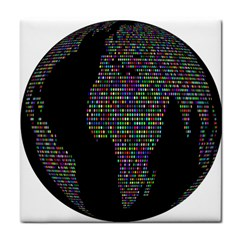 World Earth Planet Globe Map Face Towel by Amaryn4rt
