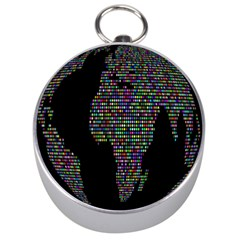 World Earth Planet Globe Map Silver Compasses by Amaryn4rt