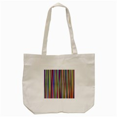 Striped Stripes Abstract Geometric Tote Bag (cream) by Amaryn4rt
