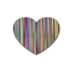Striped Stripes Abstract Geometric Rubber Coaster (heart)  by Amaryn4rt