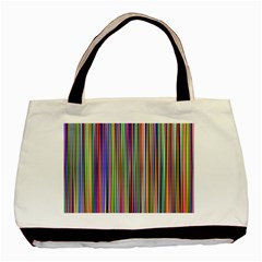 Striped Stripes Abstract Geometric Basic Tote Bag (two Sides) by Amaryn4rt