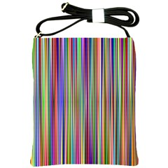 Striped Stripes Abstract Geometric Shoulder Sling Bags by Amaryn4rt