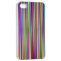Striped Stripes Abstract Geometric Apple Iphone 4/4s Seamless Case (white) by Amaryn4rt