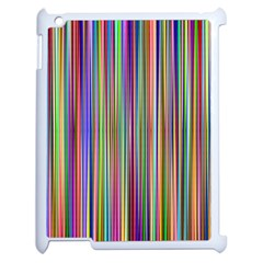 Striped Stripes Abstract Geometric Apple Ipad 2 Case (white) by Amaryn4rt